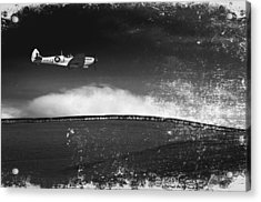 Distressed Spitfire Acrylic Print