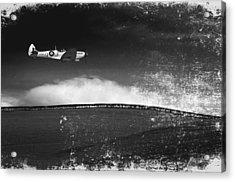 Distressed Spitfire Acrylic Print by Meirion Matthias