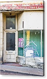 Disused Shop Acrylic Print by Tom Gowanlock