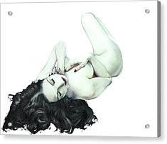 Acrylic Print featuring the painting Dita Von Teese by John Chivers