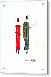 Divalicious Acrylic Print by Bee Jay