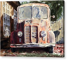 Divco Truck Acrylic Print by Joey Agbayani
