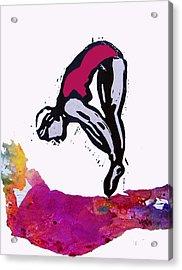 Dive - Crimson Tide Acrylic Print by Adam Kissel