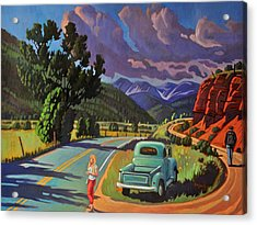 Acrylic Print featuring the painting Divergent Paths by Art West