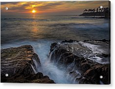 Diver's Cove Sunset Acrylic Print