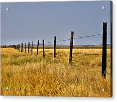 Acrylic Print featuring the photograph Dividing Line by Blair Wainman
