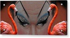 Divine Flamingos Montage Acrylic Print