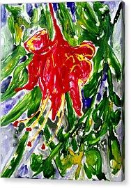 Divine Fllowers Acrylic Print by Baljit Chadha