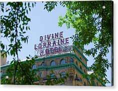 Divine Lorraine Hotel Restored - Philadelphia Acrylic Print by Bill Cannon