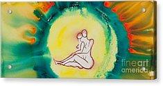 Divine Love Series No. 2086 Acrylic Print by Ilisa Millermoon