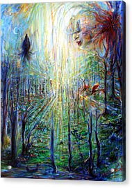 Acrylic Print featuring the painting Divine Mother Earth by Heather Calderon