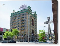 Divine Resurection - Divine Lorraine Hotel Philadelphia Acrylic Print by Bill Cannon