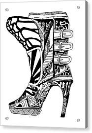 Divine Stairway High Heel Acrylic Print by Kenal Louis