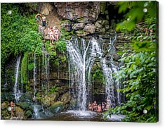 Diving At Akron Falls Acrylic Print by Carlos Ruiz