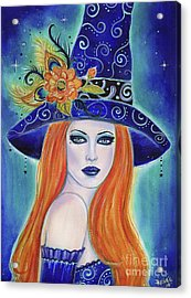 Divinia Halloween Witch  Acrylic Print
