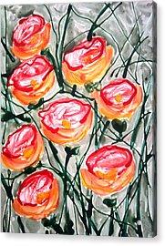 Divne Flowers Acrylic Print by Baljit Chadha