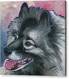 Acrylic Print featuring the painting Dixie by Nadi Spencer