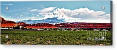Dixie Red Rocks Acrylic Print
