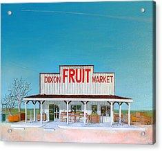 Dixon Fruit Market 1992 Acrylic Print by Wingsdomain Art and Photography