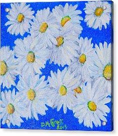 Dizzy Daisies Acrylic Print