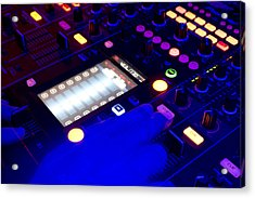 Dj On Deck Acrylic Print by Michael Wilcox