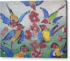 Acrylic Print featuring the painting Dlyg Birdsong by Judith Desrosiers