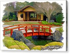 Do-00006 Cypress Bridge And Tea House Acrylic Print