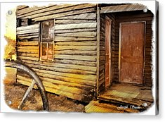 Acrylic Print featuring the photograph Do-00040 Old House Front by Digital Oil