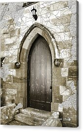 Acrylic Print featuring the photograph Do-00055 Chapels Door In Morpeth Village by Digital Oil