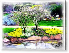Acrylic Print featuring the photograph Do-00066 Lake Walk by Digital Oil