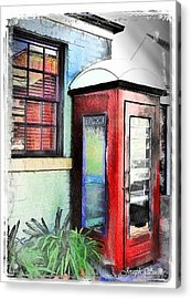 Do-00091 Telephone Booth In Morpeth Acrylic Print