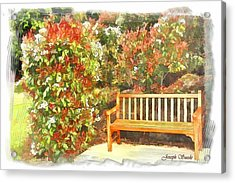 Acrylic Print featuring the photograph Do-00122 Inviting Bench by Digital Oil