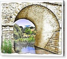 Acrylic Print featuring the photograph Do-00262 Richmond Bridge by Digital Oil