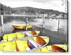 Do-00279 Yellow Boats Acrylic Print