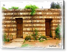 Acrylic Print featuring the photograph Do-00305 Old Hutt In Anjar by Digital Oil
