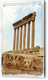 Do-00314 The 6 Corinthian Columns In Baalbeck Acrylic Print