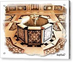 Acrylic Print featuring the photograph Do-00323 Old Bath Fountain by Digital Oil
