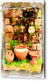 Acrylic Print featuring the photograph Do-00348 Jars In Byblos by Digital Oil