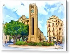 Do-00358 The Clock Tower Acrylic Print