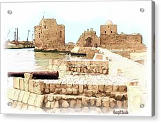 Do-00423 Citadel Of Sidon Acrylic Print