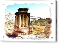 Do-00432 The Temple Of Faqra Acrylic Print