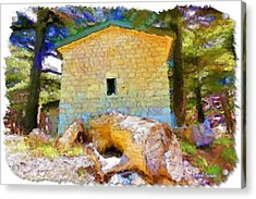 Do-00435 Building Surrounded By Cedars Acrylic Print