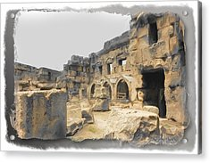 Acrylic Print featuring the photograph Do-00452 Inside The Ruins by Digital Oil