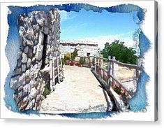 Acrylic Print featuring the photograph Do-00459 Mar Charbel Aanaya by Digital Oil