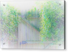 Do I Want To Leave The Garden Acrylic Print