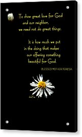 Do Little Things With Big Love Acrylic Print