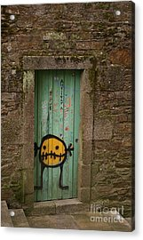 Do Not Enter Acrylic Print by Catja Pafort