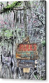 Do Not Feed Gators Acrylic Print by JC Findley