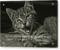 Do Not Start With Me Quote Acrylic Print by JAMART Photography