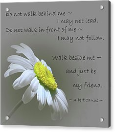 Acrylic Print featuring the mixed media Walk Beside Me by Movie Poster Prints